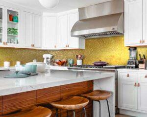 glitter kitchen splashback